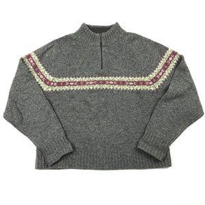 Woolrich 1/4 Zip Wool Pullover Sweater Medium
